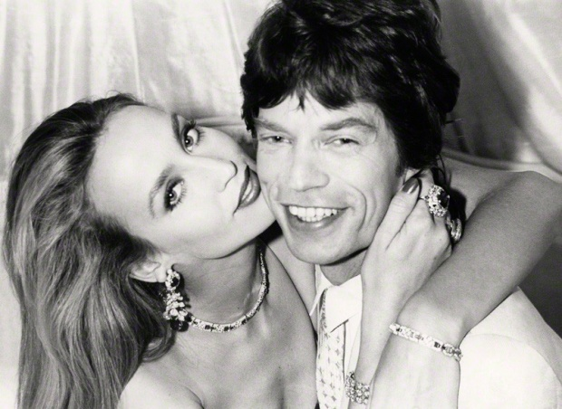 NPG x30177; Mick Jagger; Jerry Hall by Norman Parkinson