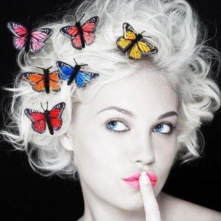 butterflies+in+hair