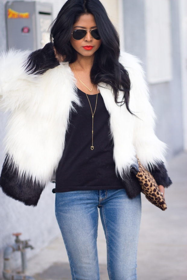 Faux-Fur-Trend-Urban-outfitters-Black-and-White-Faux-Fur-jacket-Resdenim-Kitty-Skinnyjeans-Vintage-Boots-Gorjana-Griffin-Necklace-LA-Fashion-Blogger-Streetstyle-251