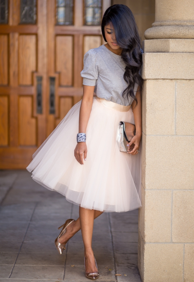 Blush+Pink+Tulle+Skirt+by+space46+Boutique+-+Cut+out+Tee-+Rosegold+Pumps-+Whimsical+Outfit-267